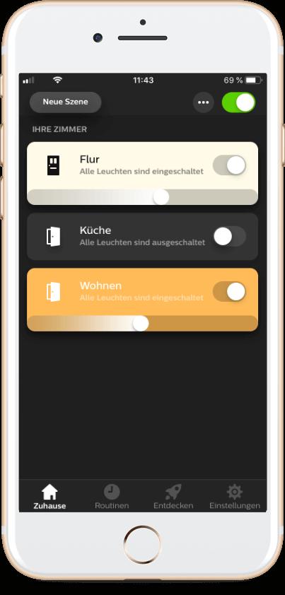 Smartphone mit Smarthome Steuerung - e-technik Sascha Müller
